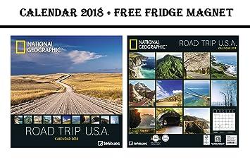 Kühlschrank Kalender : National geographic road trip usa grid kalender celebrity