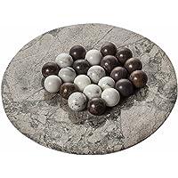 Yuchengstone - Set di 10 sfere di marmo (in colori misti), palle in marmo, bianco o marrone, elegante accessorio d'arredo, sfere di marmo decorative, sfere in pietra naturale, misura Ø: 2,8 cm, peso a pezzo: circa 40 g