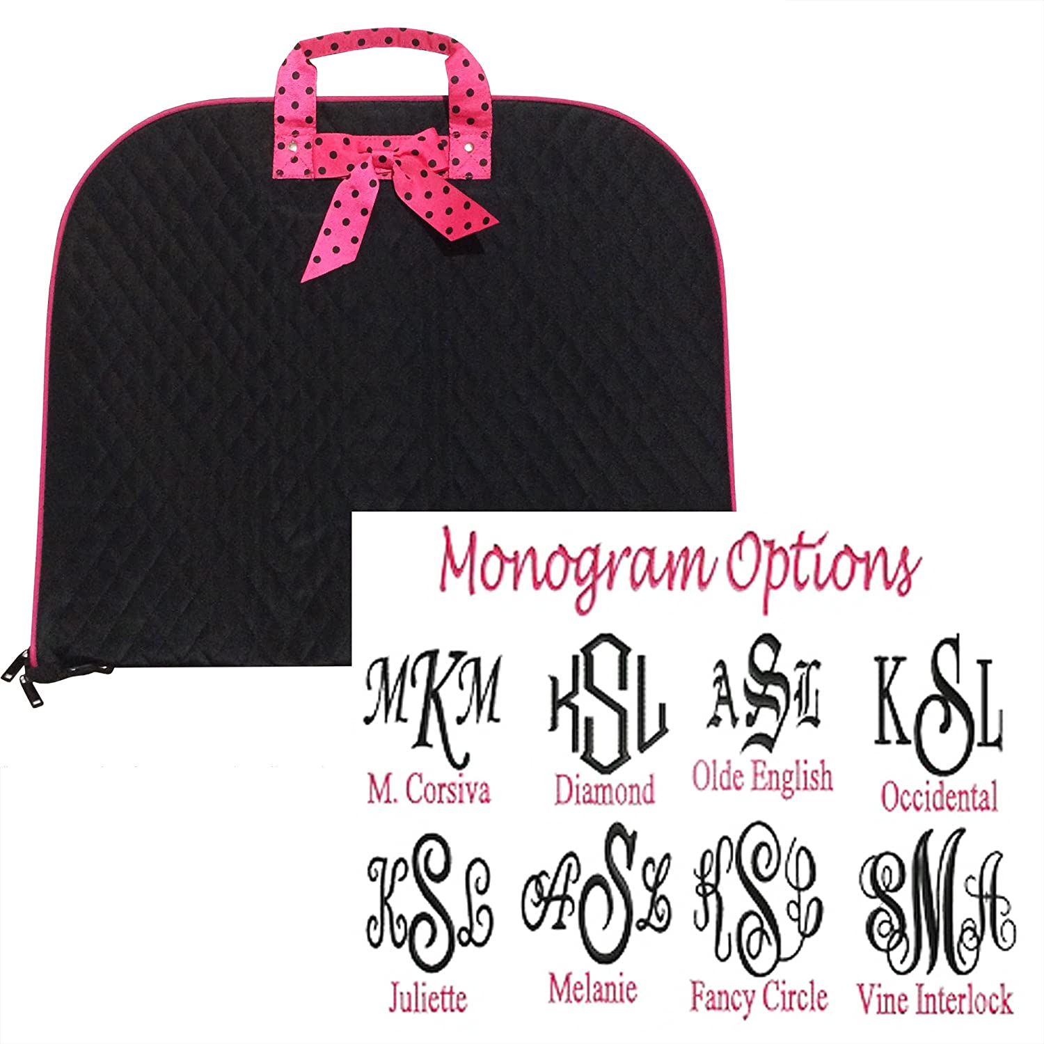 TOP QUALITY Monogram Quilted Garment Luggage Travel Costume Bag Personalized Custom