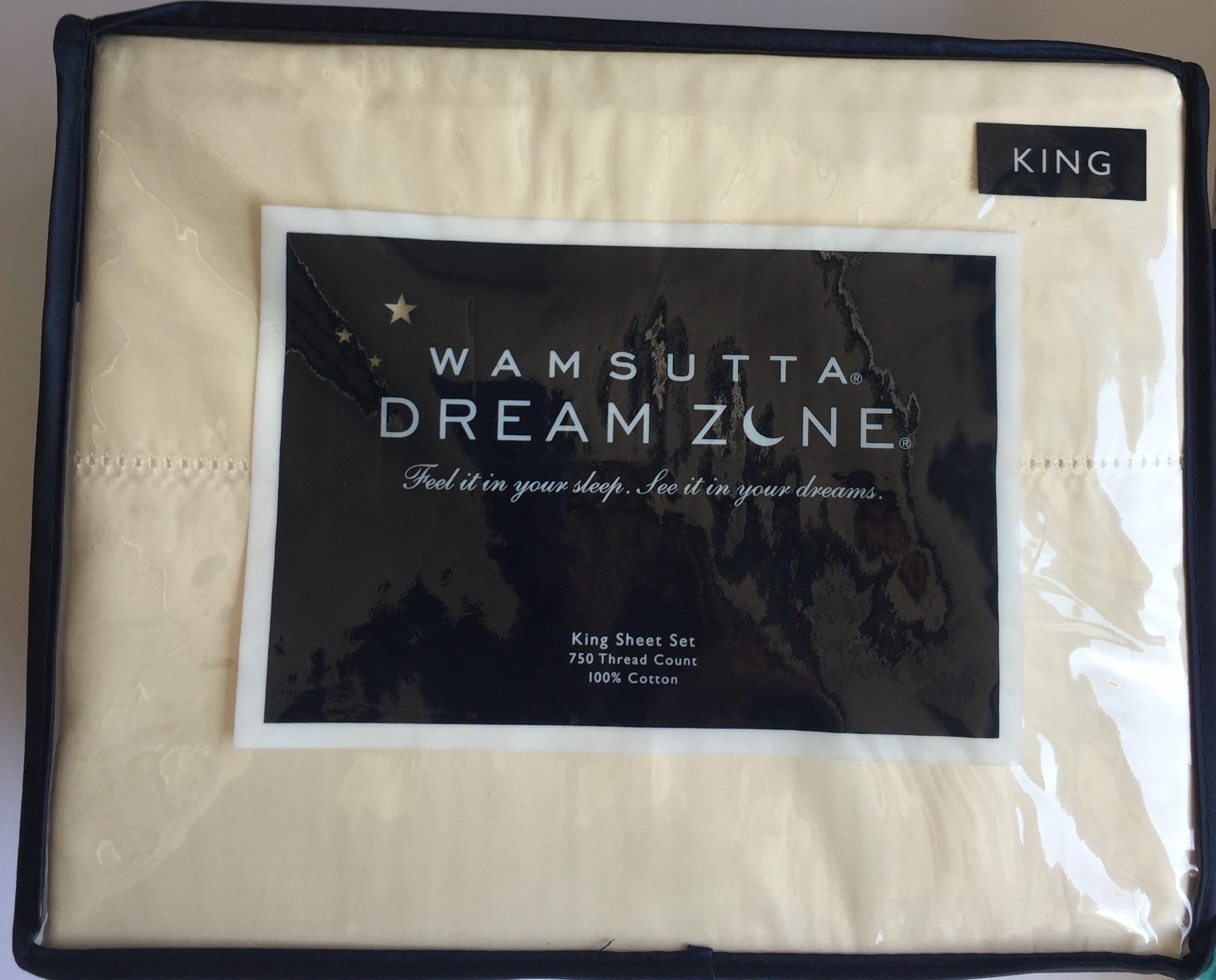Wamsutta Dream Zone King Sheet Set, Ivory Cream, 750 Thread Count by Wamsutta