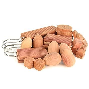Hangerworld - Set di pezzi di legno di cedro, antitarme naturale ...