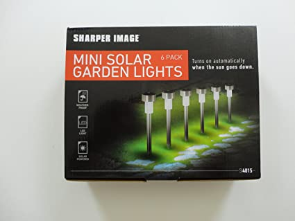 6 Pack Mini Solar Led Garden Lights Amazoncom