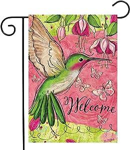 Briarwood Lane Blissful Hummingbird Spring Garden Flag Welcome 12.5