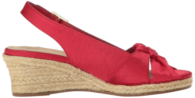 Bella Vita Women's Seraphina Ii Espadrille Wedge Sandal B01N65EZUV 6.5 2W US|Red Silk