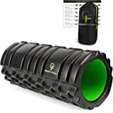 Gravity Fitness Foam Roller, High Density Foam with Durable PVC Core, 3 Different Surface Shapes for Ideal Mobility and Flexibility Training. 13 x 5.5 Inches, Includes Free Storage Bag and Exercise Program