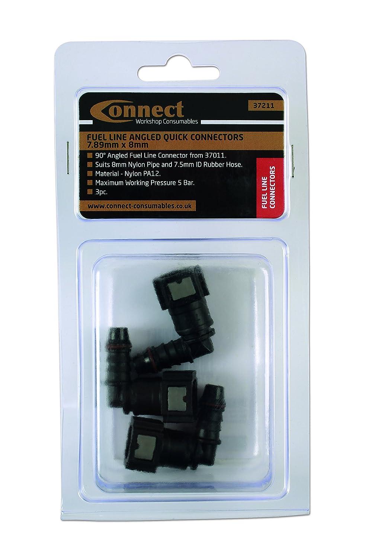 Connect Consumables Connect workshop Consumables 37211/Fuel Line Quick connettori ad angolo 7.89/mm x 8/mm PK 3