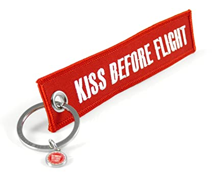 Llavero Kiss Before Flight (Rojo): Amazon.es: Coche y moto
