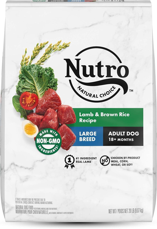 Nutro Natural Choice Large Breed Adult Dry Dog Food, Lamb & Brown Rice Recipe Dog Kibble, 20 lb. Bag