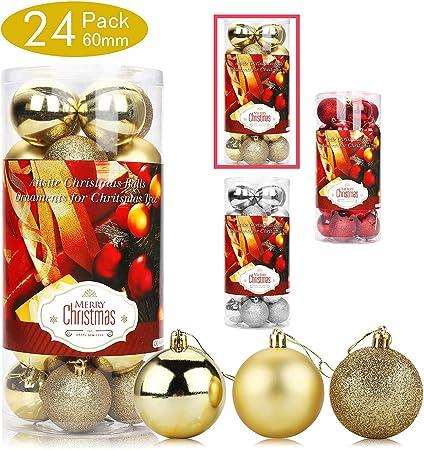 Aitsite Bolas de Navidad 6 cm Bolas de árbol de Navidad Adorno de ...