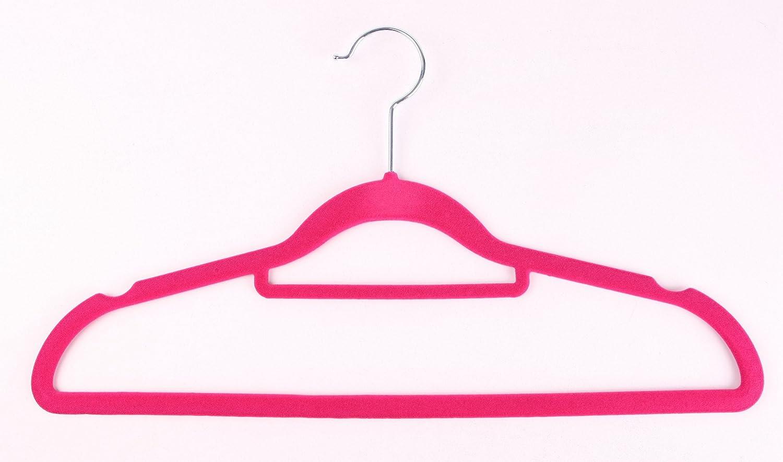 The Hanger Store Cintres en velours antid/érapant peu encombrants avec barre pour pantalon 10 beige