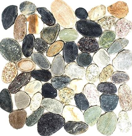 Mosaico Di Ciottoli Rete Costituita Da Un Mix Di Ciottoli