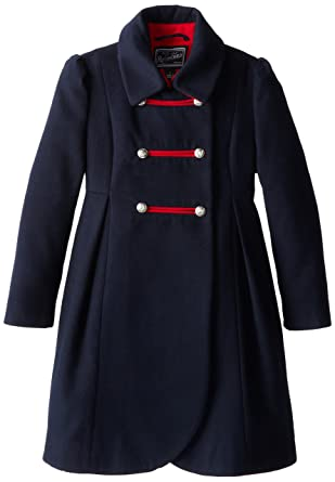 Amazon.com: Rothschild Big Girls' Faux Wool Petal Front Military ...