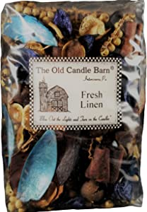 Old Candle Barn Fresh Linen Potpourri - Perfect For Spring, Summer, Fall, and Winter Decoration or Bowl Filler