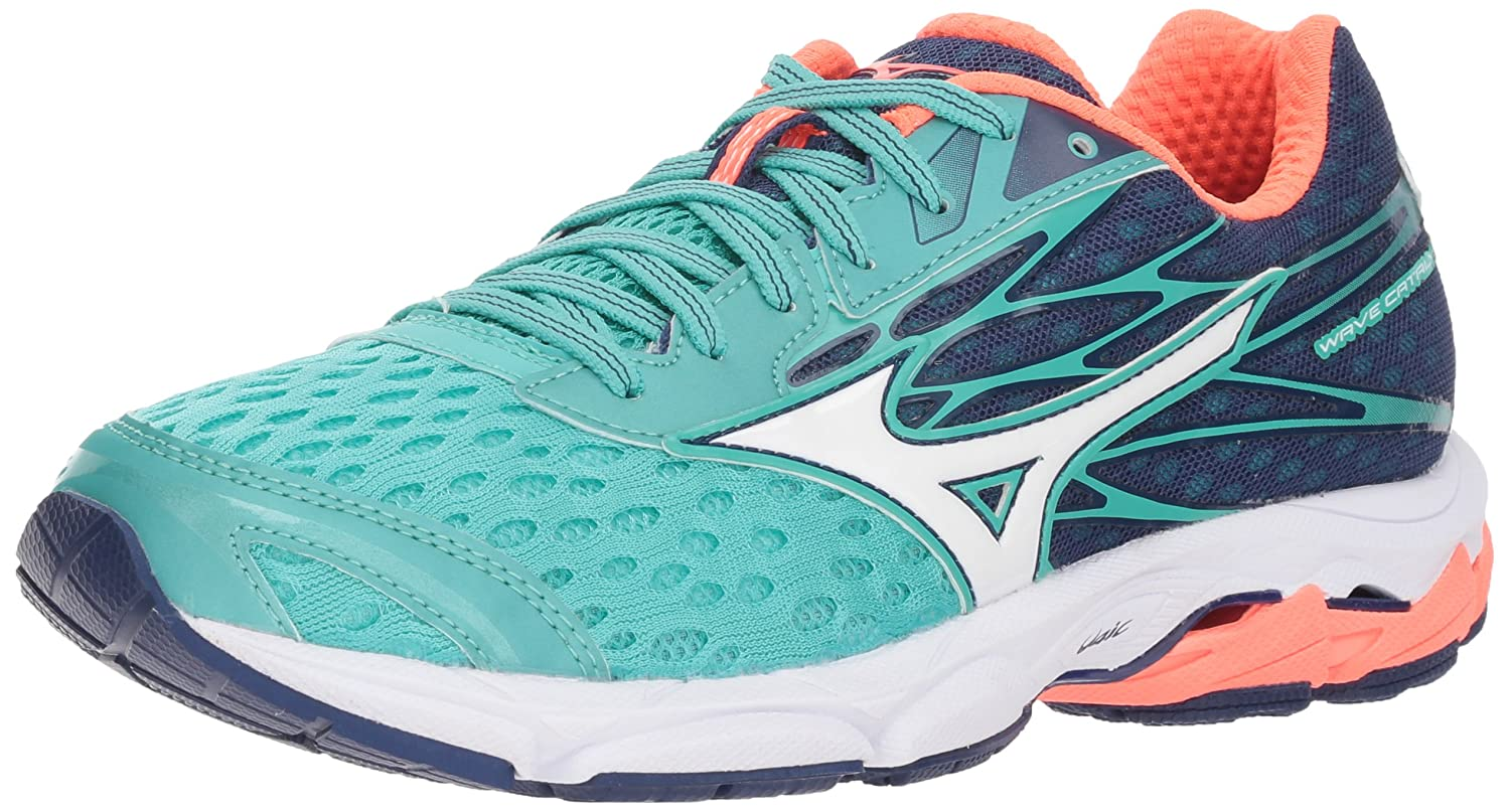 Mizuno Women's Wave Catalyst 2 Running Shoe B071H4VKGP 6.5 B(M) US|Turquoise/Fiery Coral