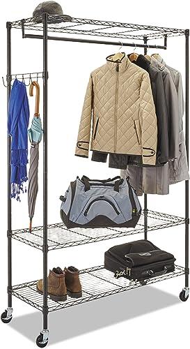 Alera Wire Shelving Garment Rack Black