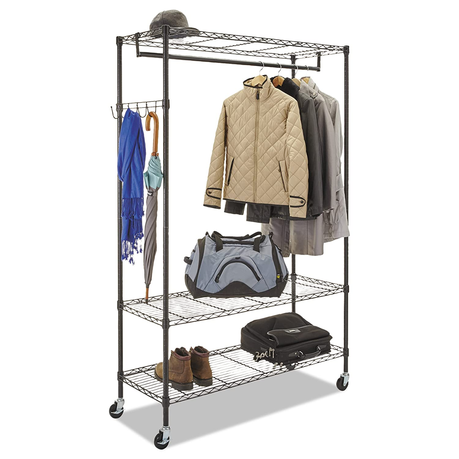 Alera Wire Shelving Garment Rack Black