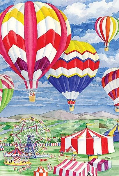 Amazon Com Toland Home Garden 119865 Fair Balloons 12 5 X 18 Inch Decorative Garden Flag 12 5 X 18 Garden Outdoor
