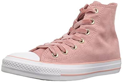 Converse Women s CTAS HI Rust Pink Black White Sneaker Milk b3bbbe60d