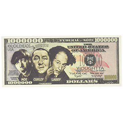 The Three Stooges $Million Dollar$ Novelty Bill Collectible: Toys & Games [5Bkhe2000801]