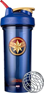 Blender Bottle Marvel Comics Pro Series Shaker Bottle, 28-Ounce, Captain Marvel