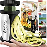 Zucchini Spaghetti Maker Complete Bundle - Best Spiraler Spiralizer with Peeler & Brush - Noddle Zoodler to Spiral…