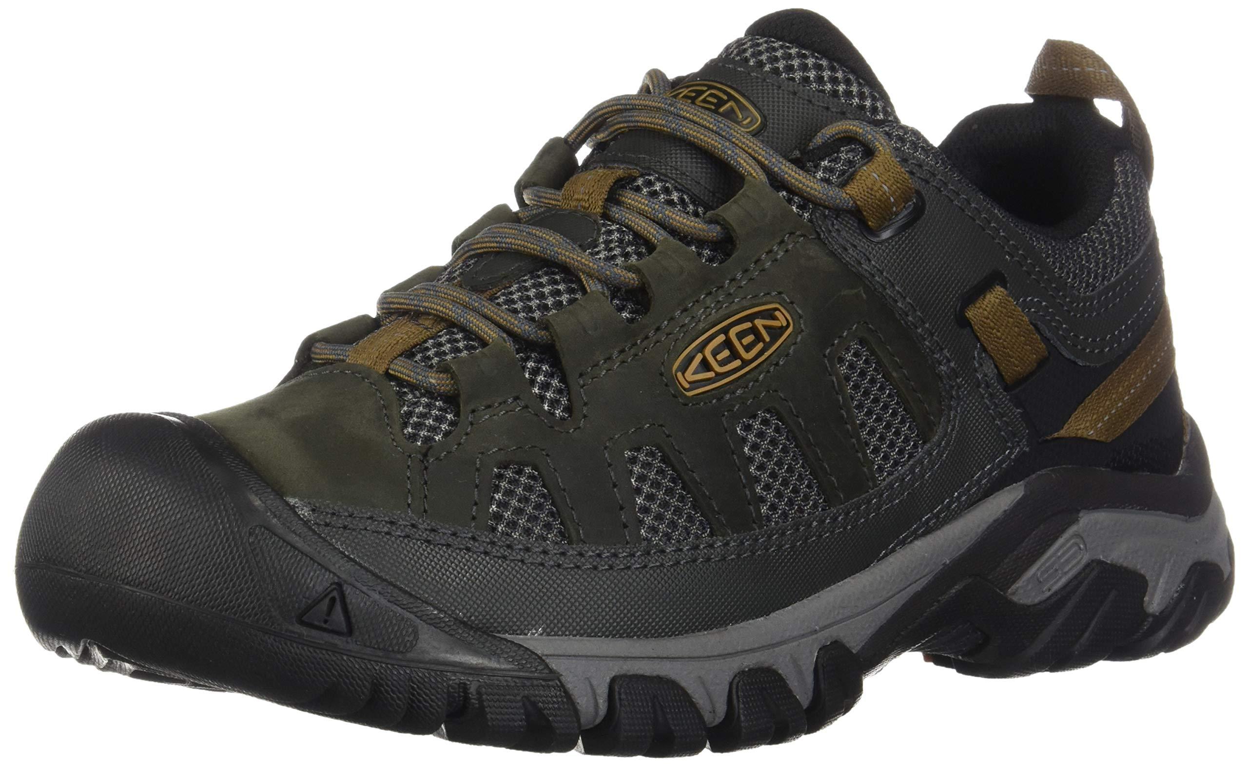 KEEN Men's Targhee Vent Hiking Shoe, Raven/Bronze Brown, 13 M US