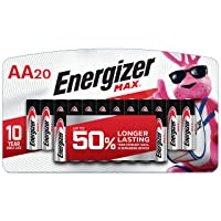 Deals on Energizer AA Batteries, Double A MAX Alkaline Battery 20-Ct