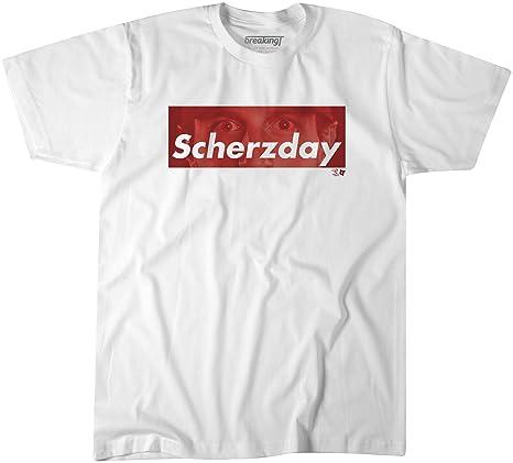 58b3d53b0 Amazon.com : BreakingT Max Scherzer- Scherzday Home Run T Shirt ...