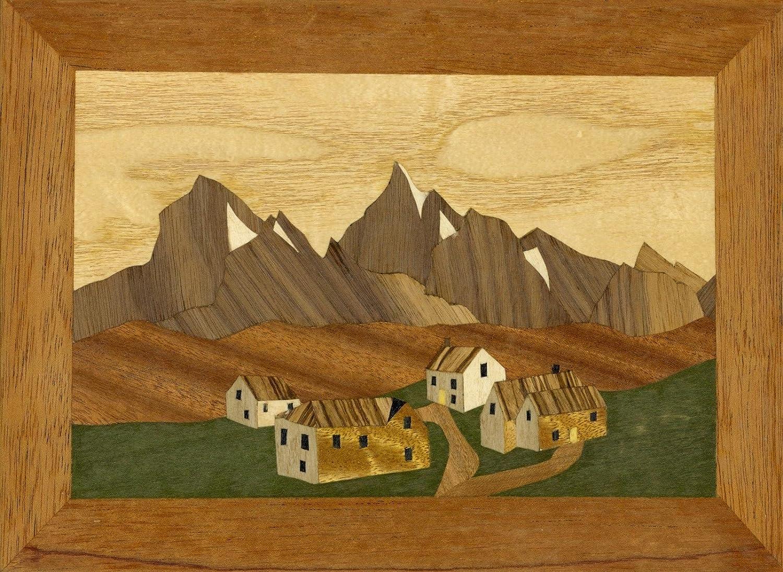 Pyrenäen Dorf Traditioneller Anfänger Marketerie Bastelset Von Cove