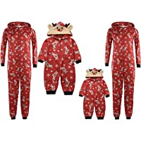 Carolilly Navidad Pijama Familia Ciervos patrón Mono Mameluco Romper Mameluco