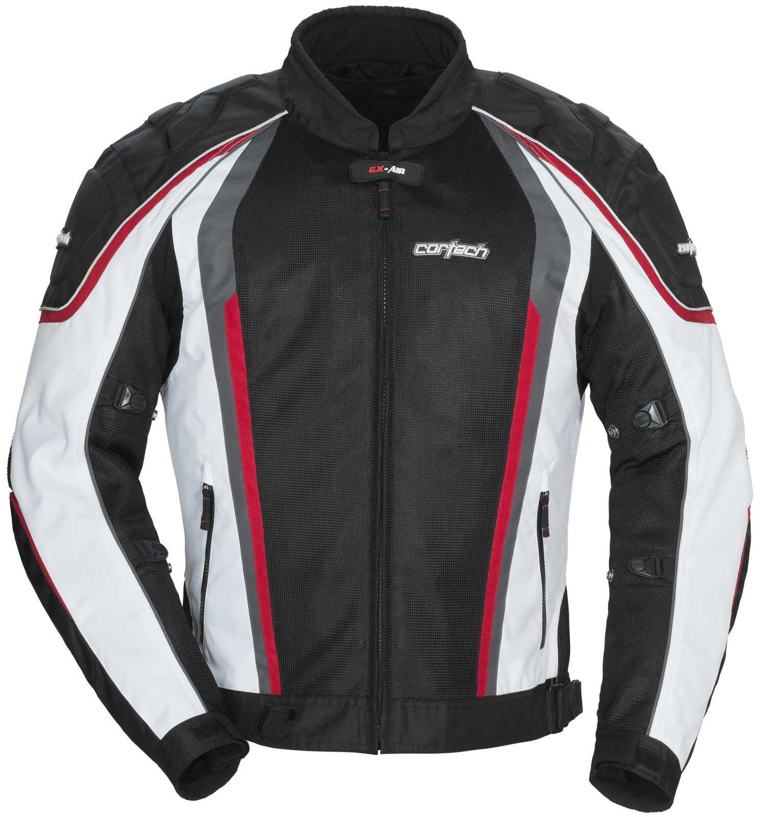 Cortech GX Sport Air 4.0 Adult Mesh Road Race Motorcycle Jacket - White/Black / Medium