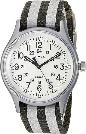 b7e3e08ad Amazon.com: Timex Men's MK1 Aluminum 3-Hand with Reflective Strap Olive/White  One Size: Watches