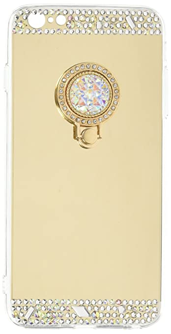 b579f1708e65 Buy Inspirationc 018 6 Crystal Rhinestone Mirror Glass Bling Diamond Soft  Rubber Makeup Case for iPhone 6 Plus 6S Plus Online at Low Prices in India  ...