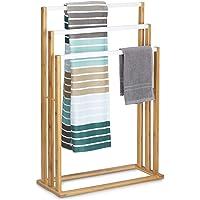 Relaxdays Bamboe h x b x d: ca. 82 x 54 x 24 cm trapvormige handdoekhouder met 3 handdoekstangen als elegant…