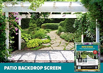Amazoncom FenceScreen Garden with Stone Path Decorative Gazebo