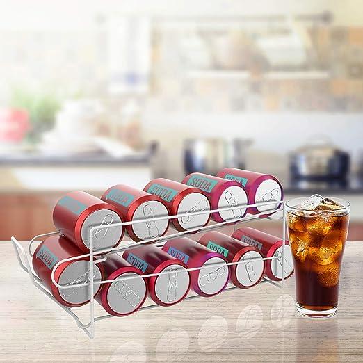 Lavish Home Dispensador con estante superior - Latas estándar de ...