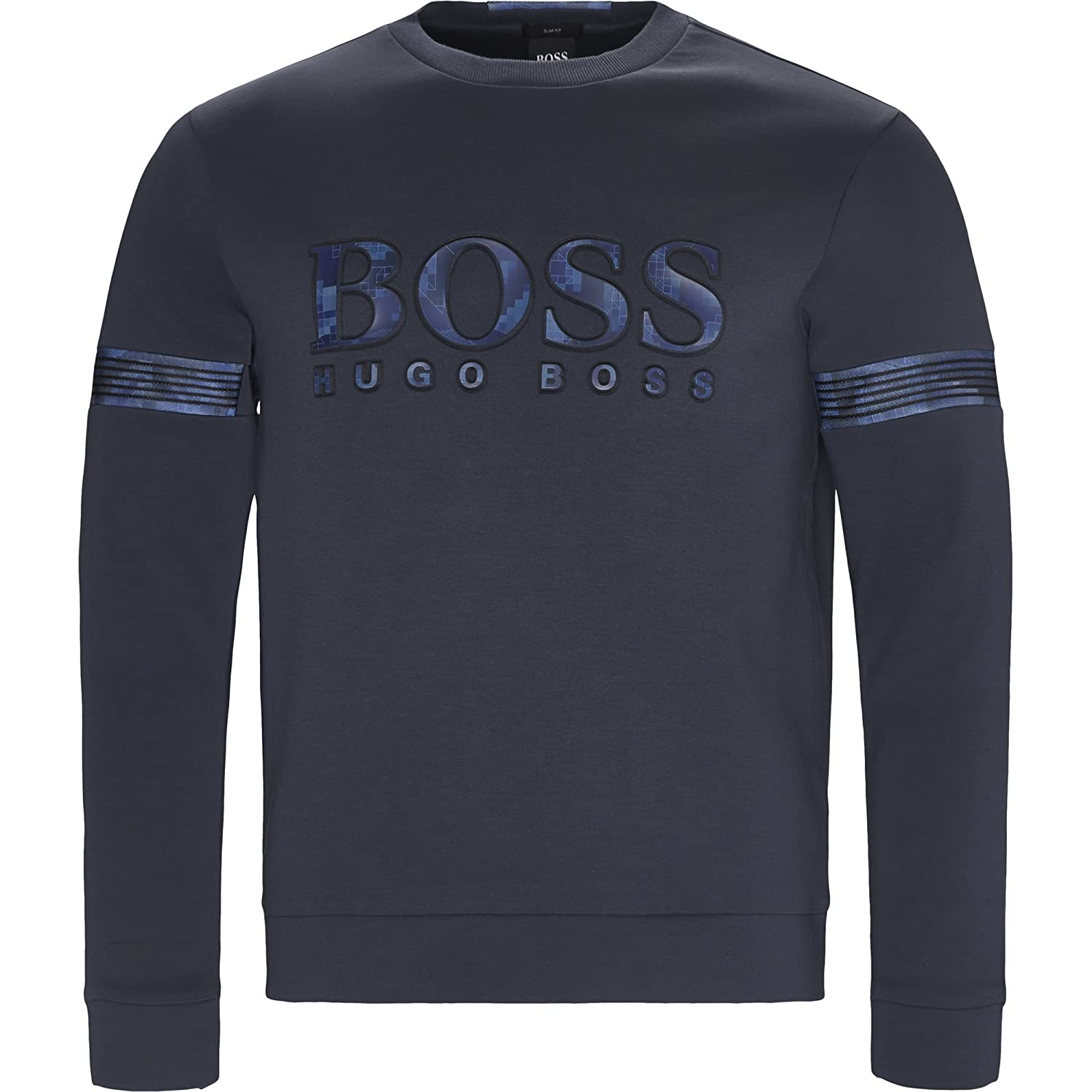 Hugo Boss Mens Blue Salbonic Sweatshirt