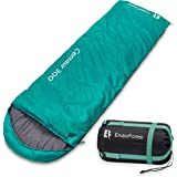 Endor Forest Envelope Sleeping Bag - Single 3 Season Sleeping Bags for Adults and Sleeping Bags for Kids Outdoor Camping - Lightweight, Compact and Water Resistant for a Comfortable Warm Sleep