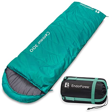 separation shoes 31275 4cefd Endor Forest Sleeping Bag for Adults and Kids - Made With Ripstop  Polyester, Single Envelope 3 Season Sleeping Bag for Camping - Lightweight,  Compact ...