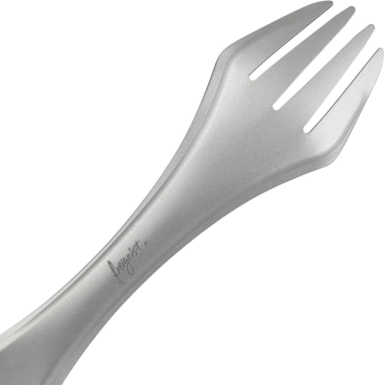 Cuchillo de Tenedor Cuchara Ligero de Juego de Cubiertos para Camping Exterior Ultra Ligero freigeist Titan Spork I Tenedor-Cuchara Combinado