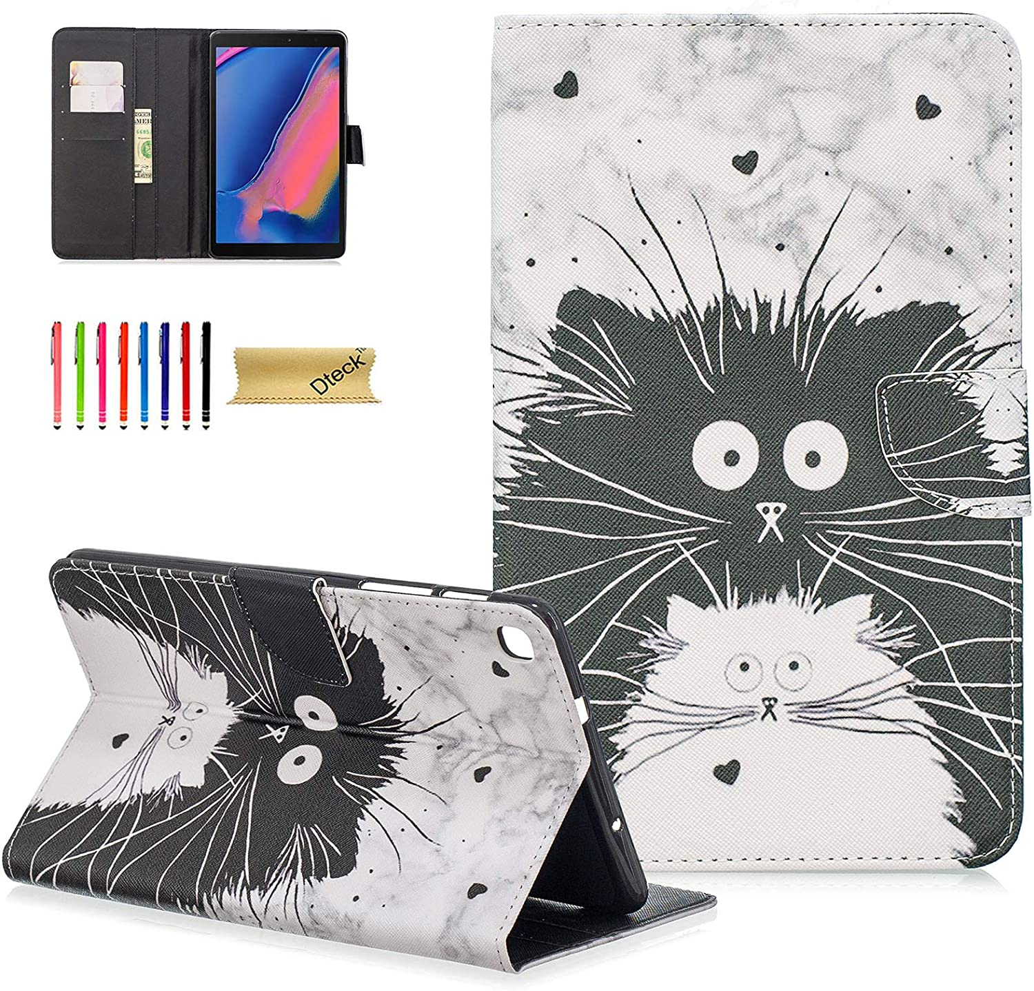 Galaxy Tab A 8 0 With S Pen 2019 Case Deck Lightweight Slim Fit Folio Stand Case For Samsung Galaxy Tab A With S Pen 8 0 Sm P200 Wi Fi Sm P205 Lte 2019 Release Tablet