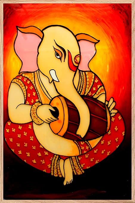 Lord Ganesha Wall Art Paintings Hangings Set Poster For Room