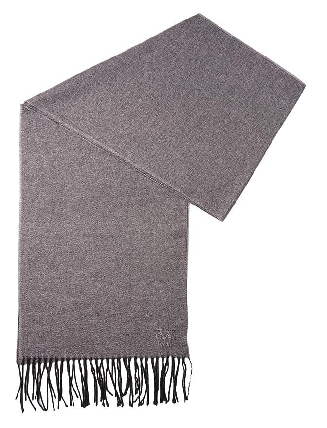 28f86bbb80e V1969 by Versace 19.69 Echarpe Homme Cachemire laine viscose chaude douce  avec sa pochette cadeau couleur Gris Souris - Taille unique  Amazon.fr   Vêtements ...