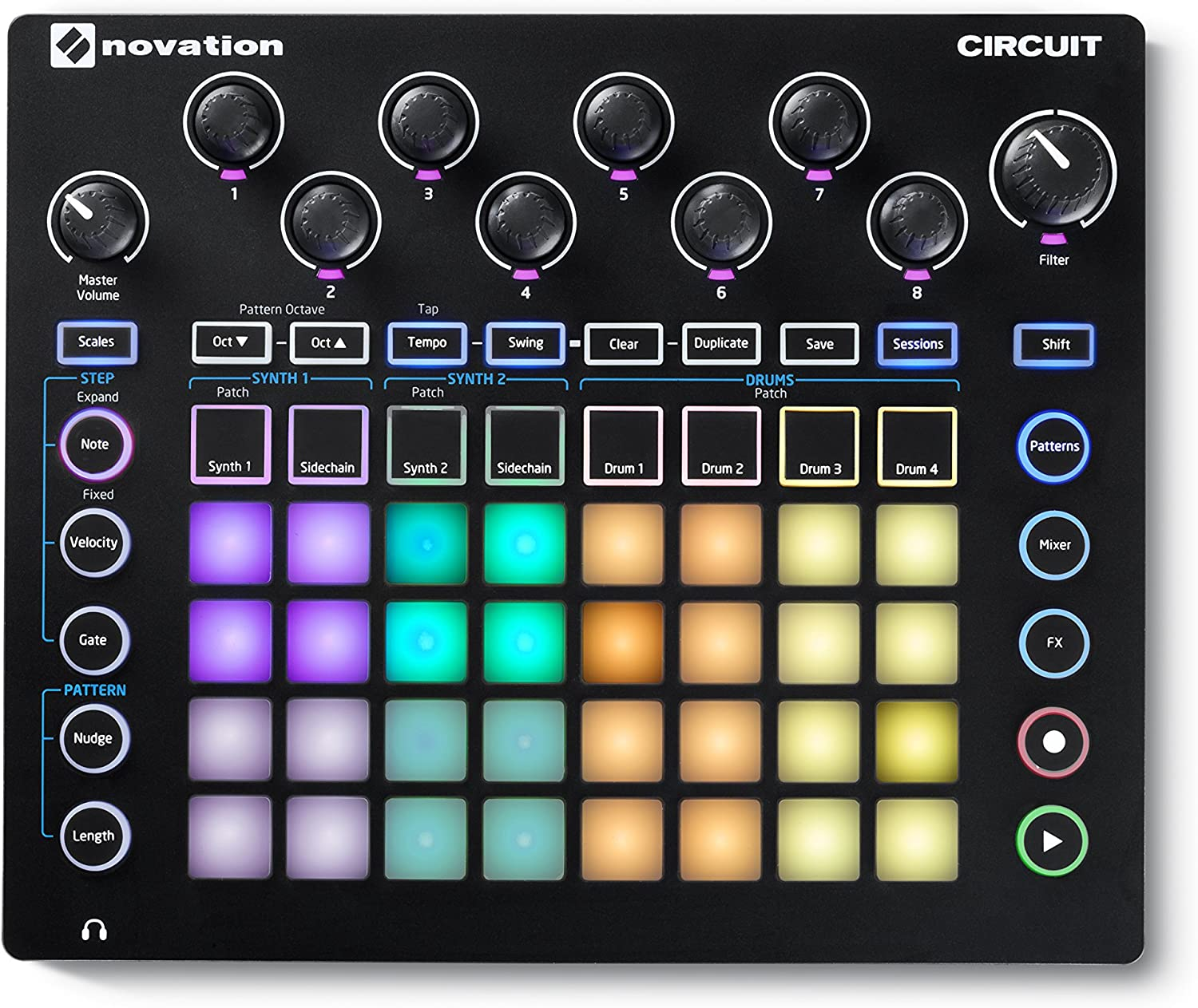Novation AMS-CIRCUIT Circuit Groove Box w/ Sample Import - Best in functionality