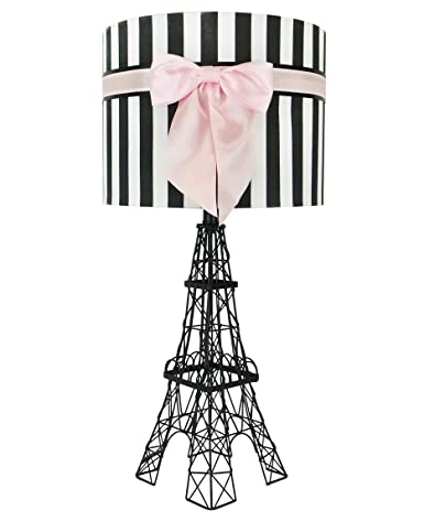 245 eiffel tower table lamp with bowknot shade pink amazon 245quot eiffel tower table lamp with bowknot shade aloadofball Choice Image