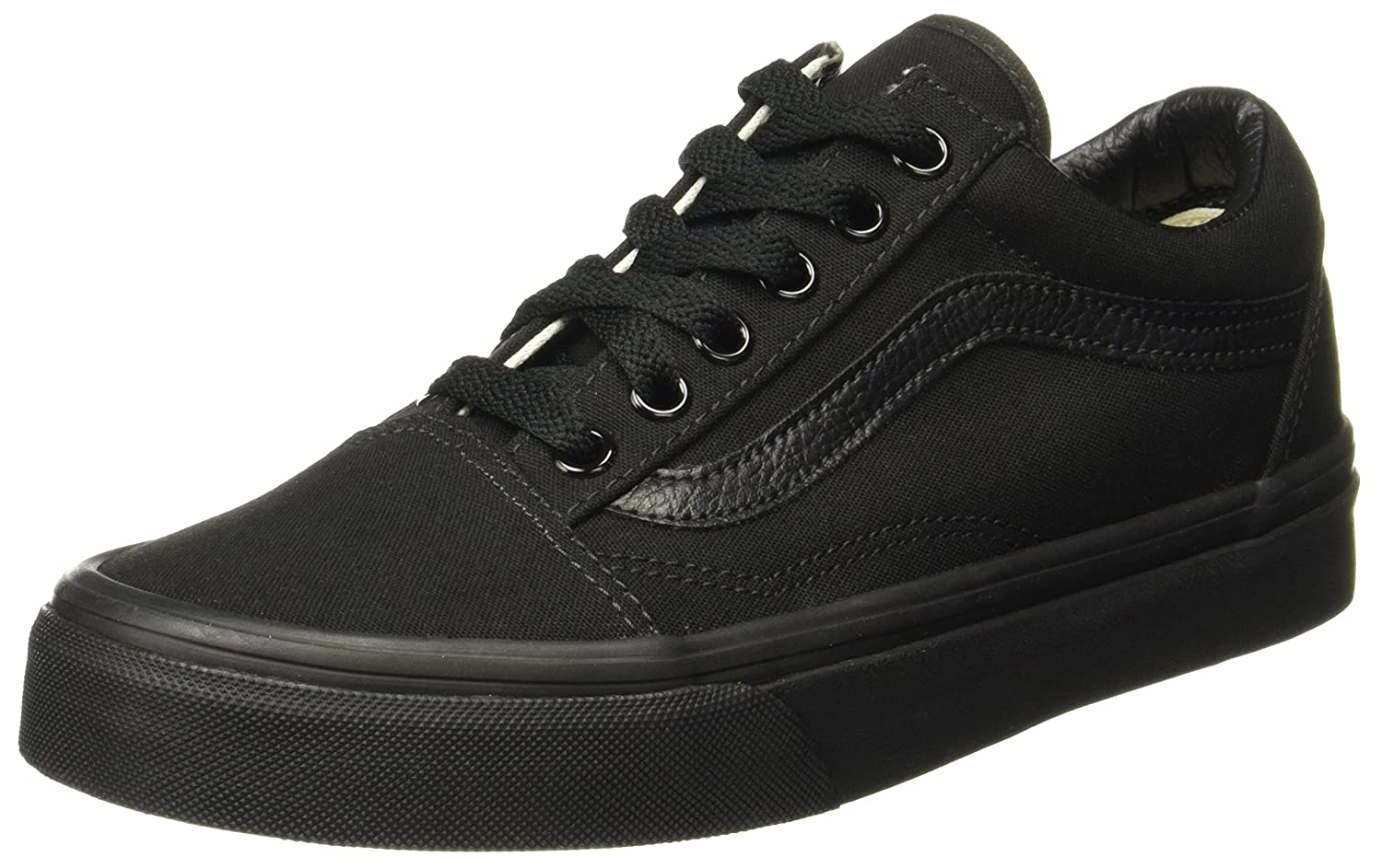 Vans Unisex Old Skool Classic Skate Shoes B001C19KT8 7.5 B(M) US Women / 6 D(M) US Men|(Black/Black (Canvas)