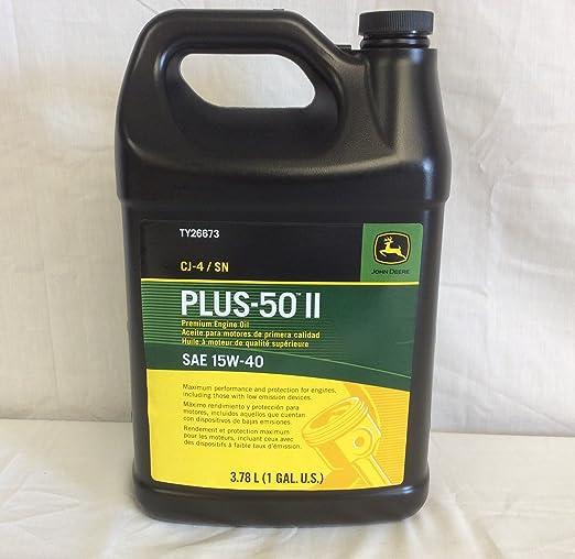 John Deere equipo Original 1 Gallon plus-50 II SAE 15 W-40 Aceite ...