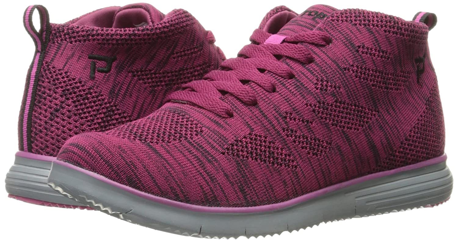 Propet Women's TravelFit Hi Walking Shoe B06XRN9QW3 6 4E US|Berry