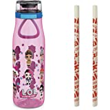 Zak Designs L.O.L. Surprise! Plastic Water Bottle BPA-Free with Push Button Action, Locking Lid, and Portable Carry Loop…