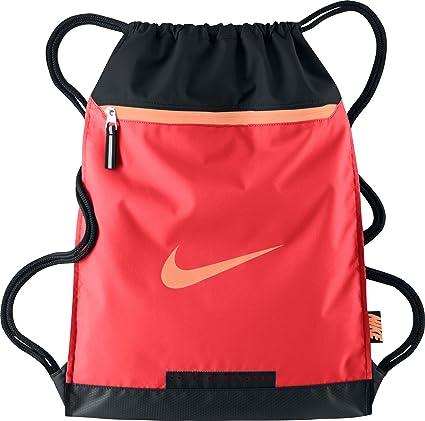 84ff0985731e45 Nike Unisex Team Training Gymsack (Light Crimson Black-Orange)